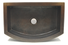 Hammered Copper Sink with Rounded Apron Front