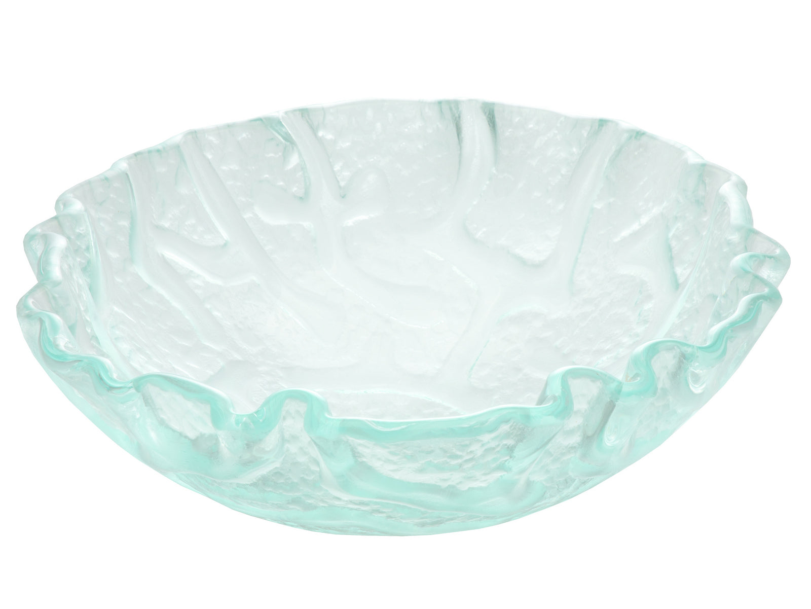 "16"" Clear Freeform Wave Glass Vessel Sink"