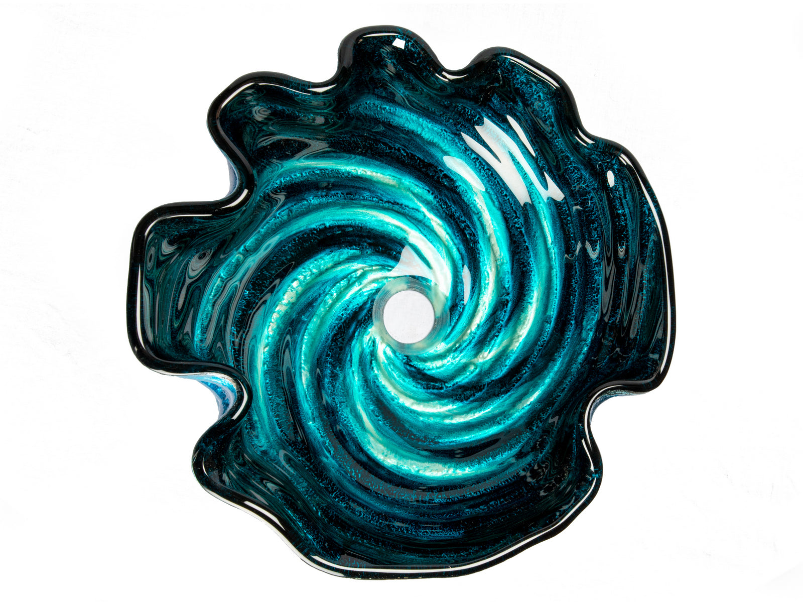 Caribbean Wave Glass Vessel Sink