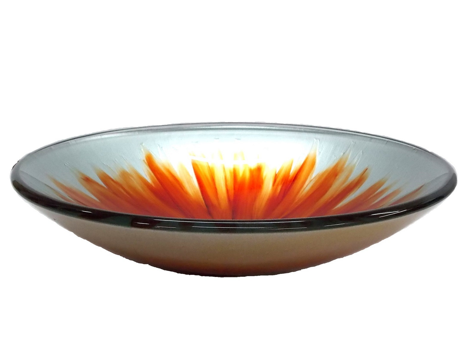 Orange Blossom Glass Vessel Sink
