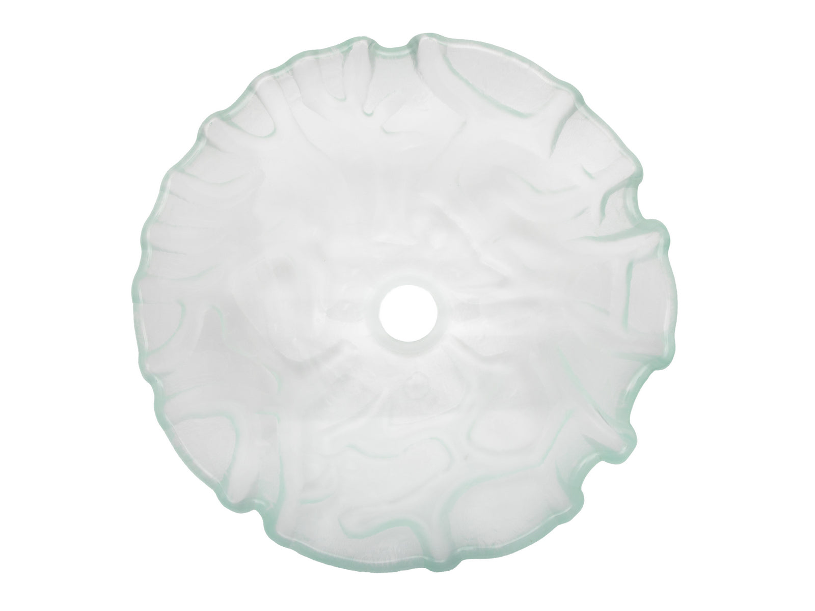 "14"" Clear Freeform Wave Glass Vessel Sink"