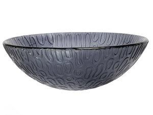 "14"" Charcoal Freeform Hoops Glass Vessel Sink"