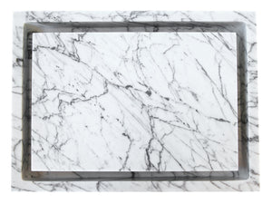 Rectangular Infinity Pool Sink - White Carrara Marble