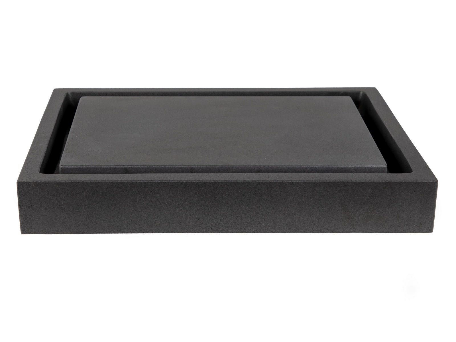 Rectangular Infinity Pool Sink - Honed Lava Stone