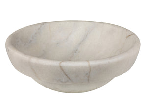 Echo Bowl Shaped Vessel Sink - Honed White Marble