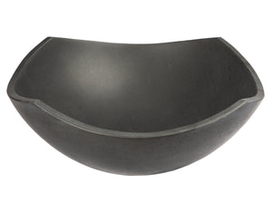 Arched Edges Bowl Sink - Black Lava Stone