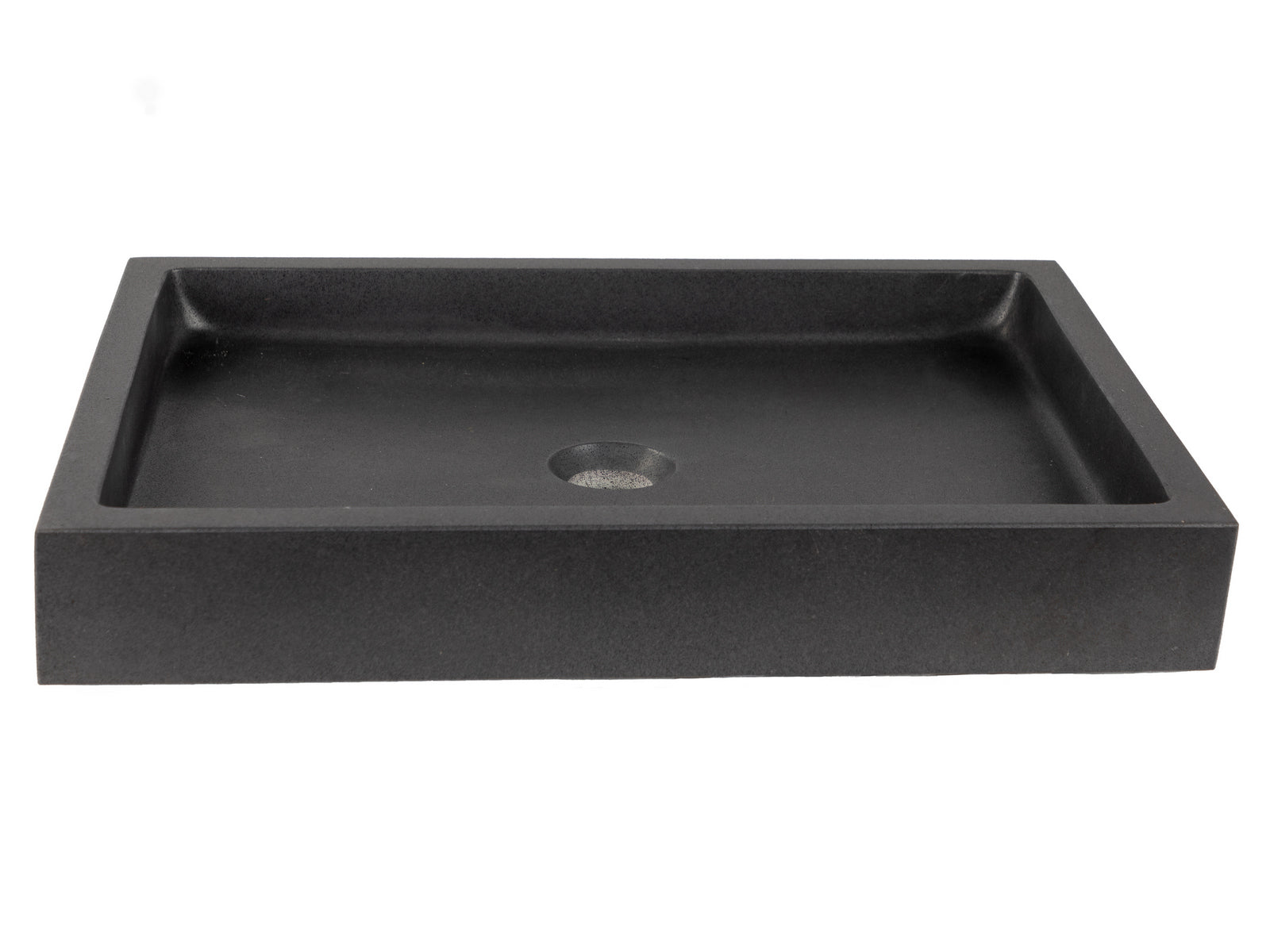 Rectangular Vessel Sink - Honed Lava Stone