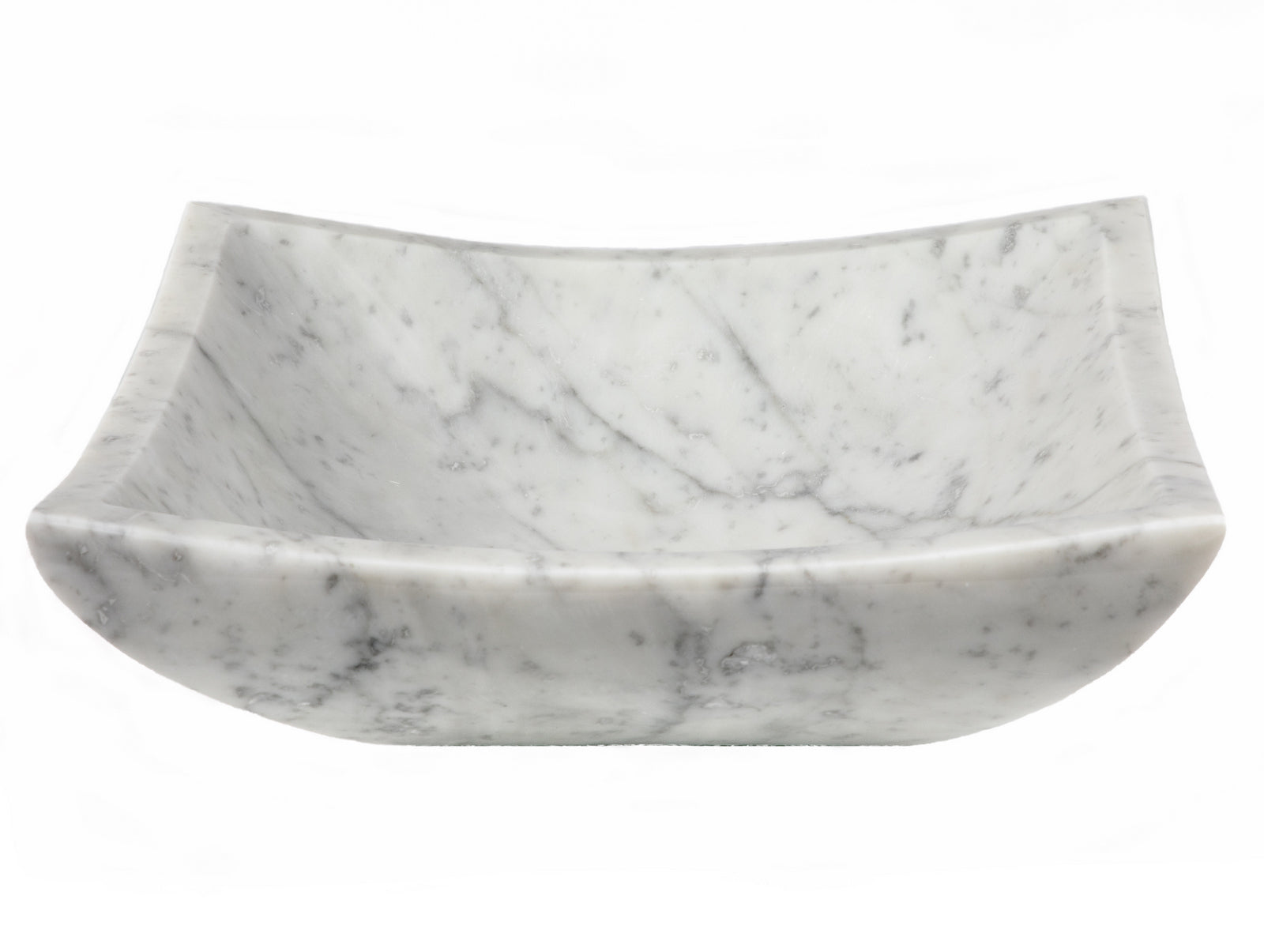Square Deep Zen Sink - Carrara Marble