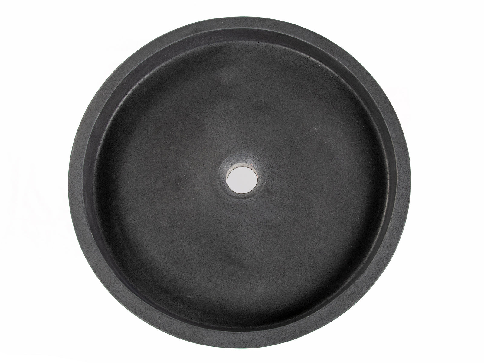 Low Round Vessel Sink - Lava Stone