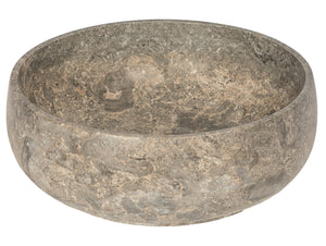Gral Round Vessel Sink in Gray Marble