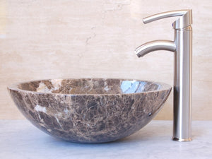"16"" Dark Marble Vessel Sink"