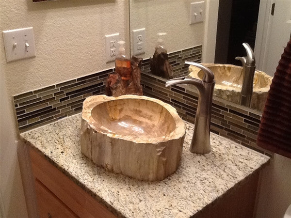 Petrified Wood Sinks Rustic Sinks