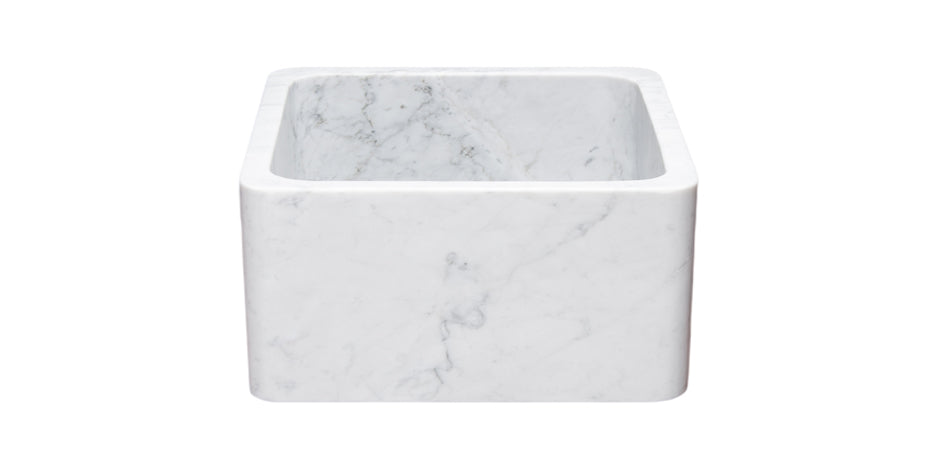 "17"" Carrara White Marble Bar & Prep Sink"