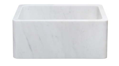 "24"" White Carrara Marble Sink"