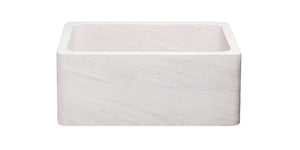 "24"" Crema Lyon Limestone Farmhouse Sink"