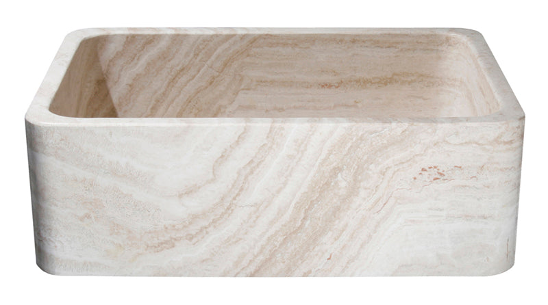 "30"" Roma Travertine Smooth Farmhouse Sink"