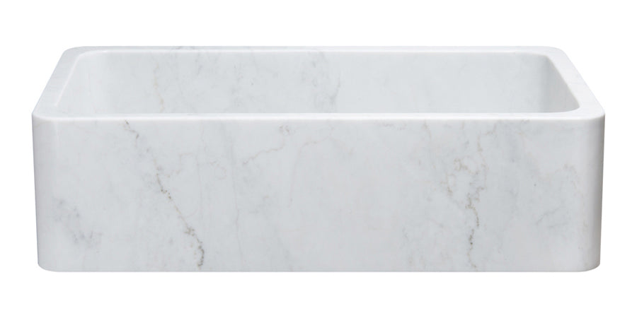 "36"" Carrara White Marble Farmhouse Sink"