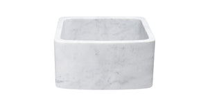 White Carrara Marble Stone Sink