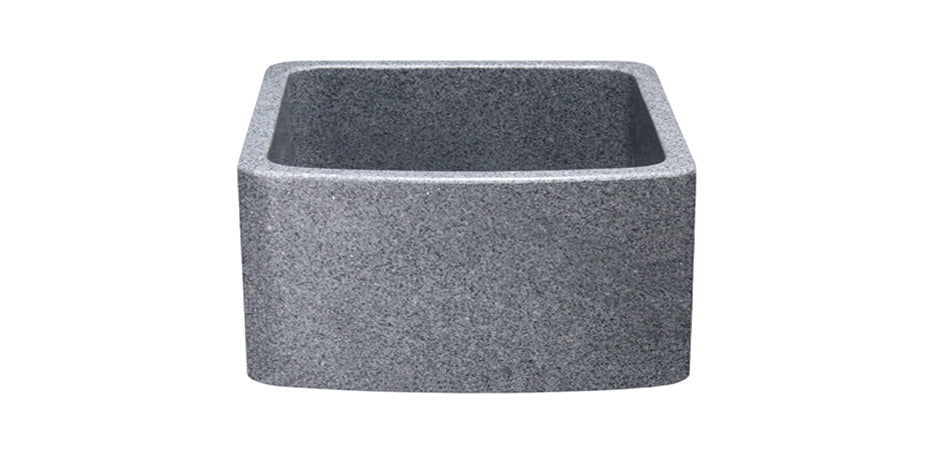 Curved Apron Front Granite Sink