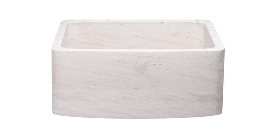 "24"" Crema Lyon Limestone Curved Front Sink"