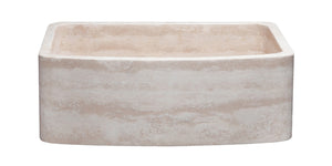 "30"" Travertine Apron Front Sink"