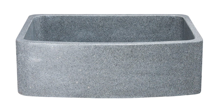 "30"" Mercury Granite Curved Apron Front Sink"