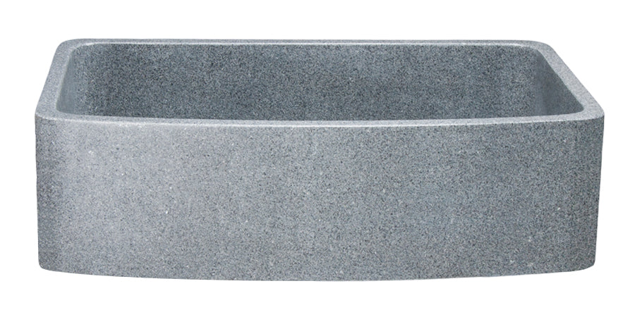 "36"" Mercury Granite Single Bowl Curved Apron Front Sink"