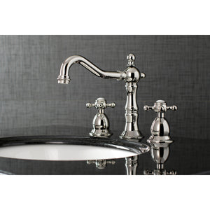 Heritage 8 in. Widespread Bathroom Faucet Cross Handles