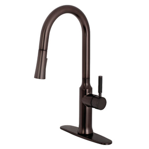 Gourmetier Modern Single-Handle Pull-Down Kitchen Faucet