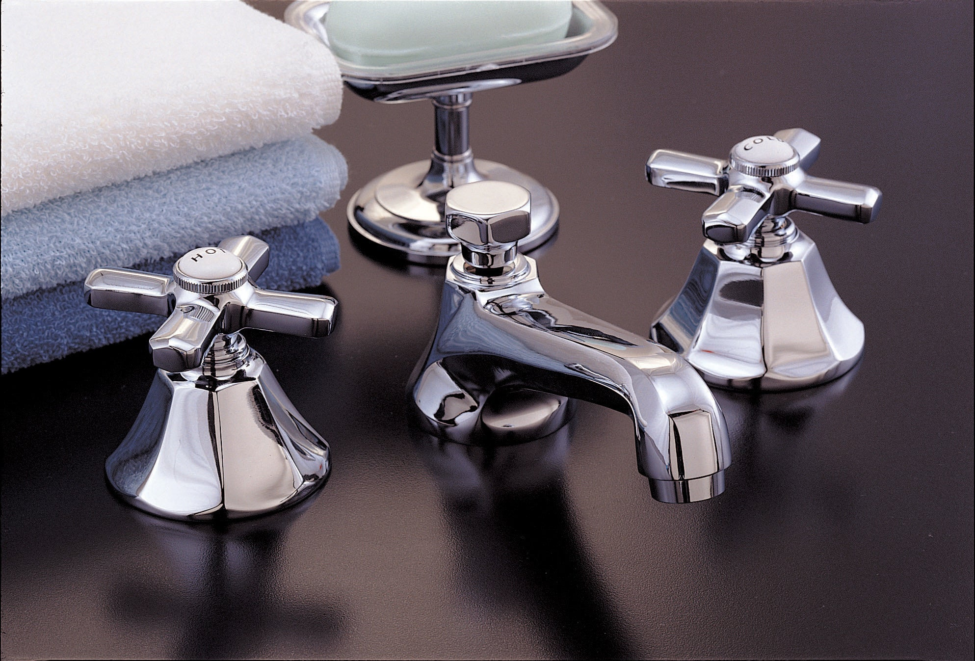 Mississippi Widespread Lavatory Faucet Set - Rustic Sinks
