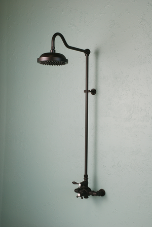 Vintage Style Exposed Thermostatic Shower Set - Rustic Sinks