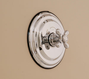 Thermostatic Shower Control/Volume Valves with Ceramic Cross Handles