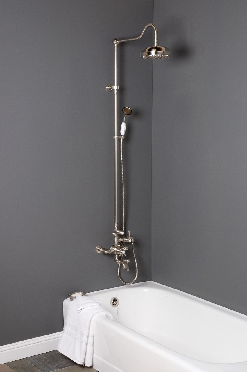 "Exposed Thermostatic Shower Set with 54"" Riser & Tub Filler"