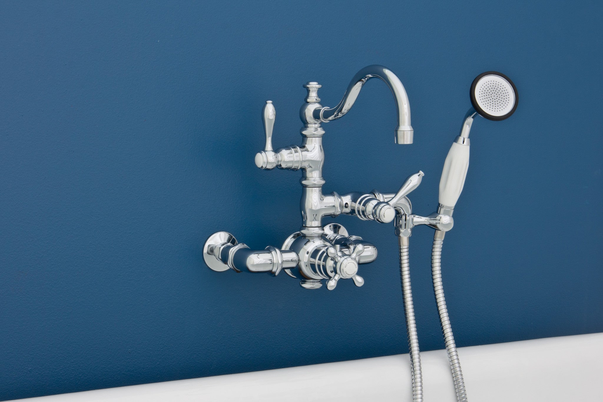Thermostatic Wall Mount Tub Faucets Rustic Sinks