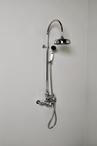 Exposed Thermostatic Shower Set with Gooseneck Riser