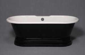 The Champlain Black & White Pedestal Tub