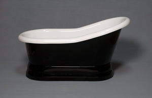The Madrone Black & White Pedestal Tub