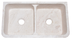 "36"" Limestone Double Bowl Farmhouse Sink"