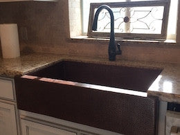 "36"" Classic Copper Farmhouse Sink"