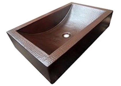 Copper Trough Vessel Sink