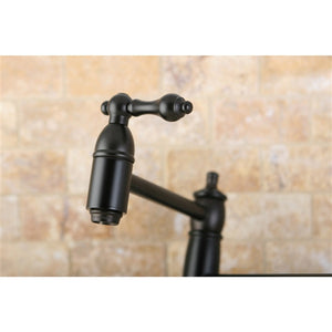 Swing Arm Wall Mount Pot Filler Faucet