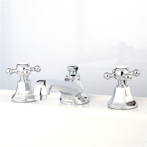 Two Handle Widespread Lavatory Faucet with Pop Up
