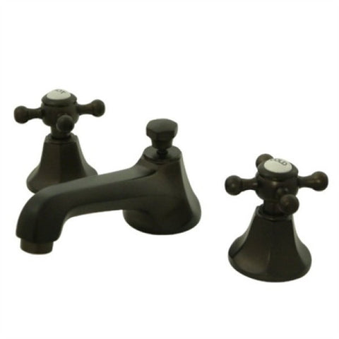 Contemporary Widespread Lavatory Faucet with Brass Pop-up