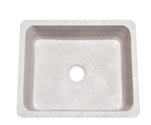 "24"" Stratus Marble Light Taupe Farmhouse Sink"
