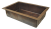 Copper Kitchen Single Basin Sink