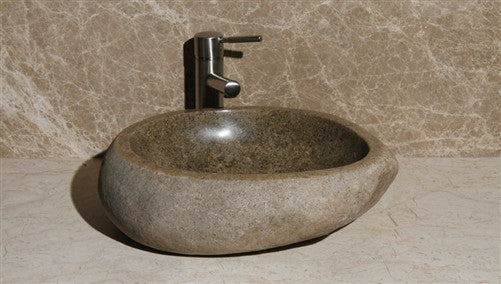 Amberstone Rock Natural Stone Sink
