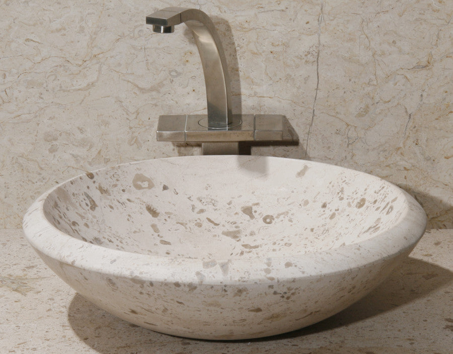 Limestone Vessel Bathroom Sink
