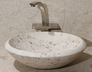 "17"" Perlina Limestone Vessel Sink"