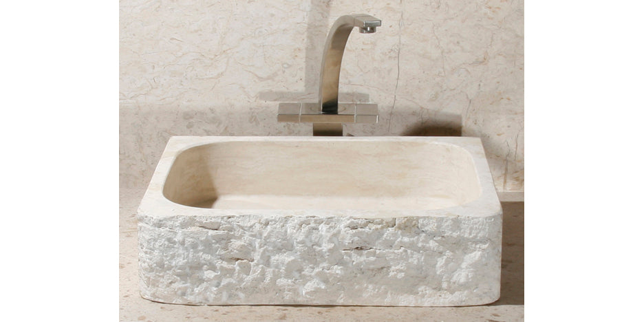 "18"" Rectangle Roma Travertine Lavatory Sink"