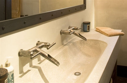 Wall Mount Faucet w/Waterfall Spout